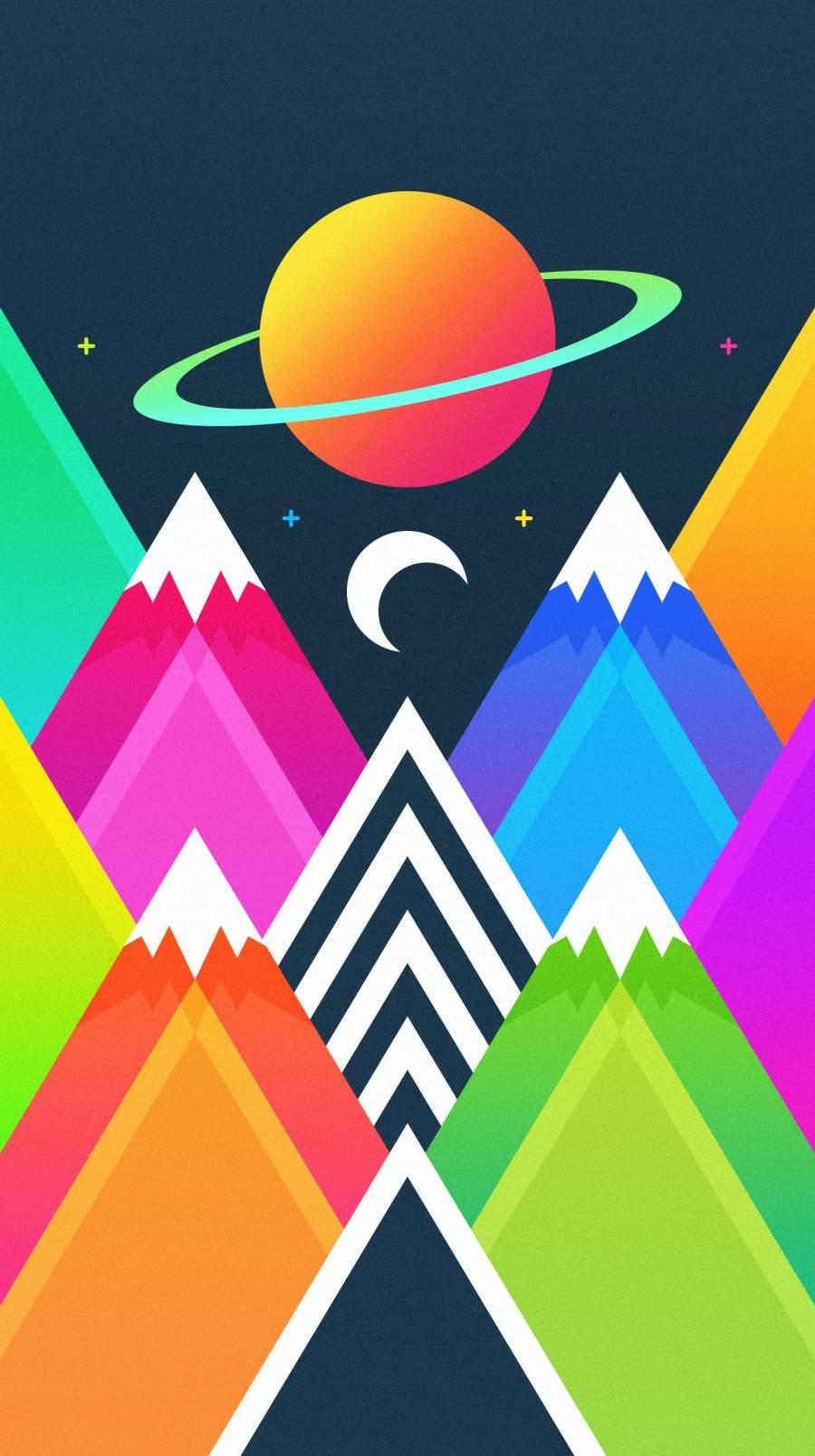 Minimal Mountains iPhone Wallpaper