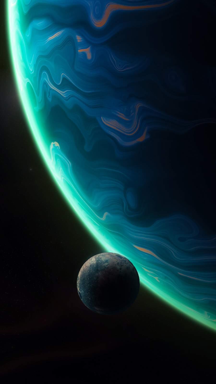 Moon Planet iPhone Wallpaper