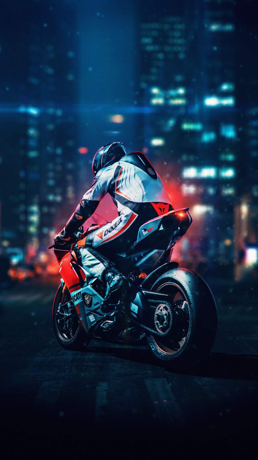 Motorcycle Rider iPhone Wallpaper