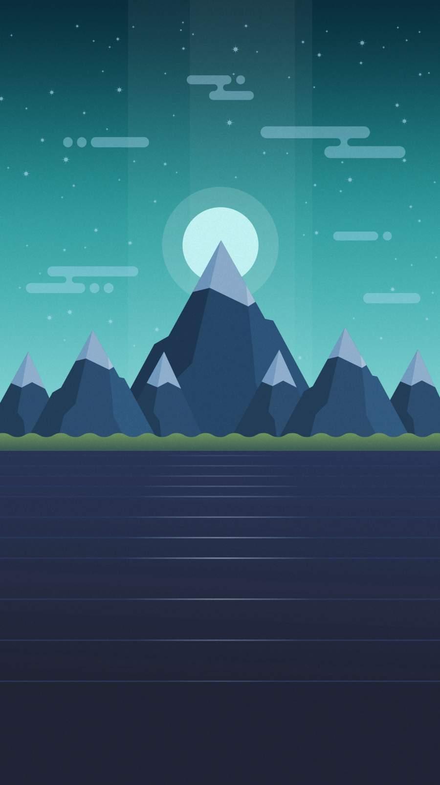 Mount Rise iPhone Wallpaper