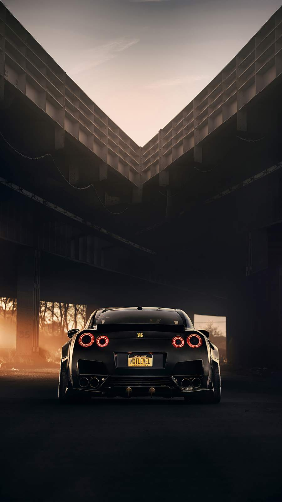 Nissan GTR Black iPhone Wallpaper