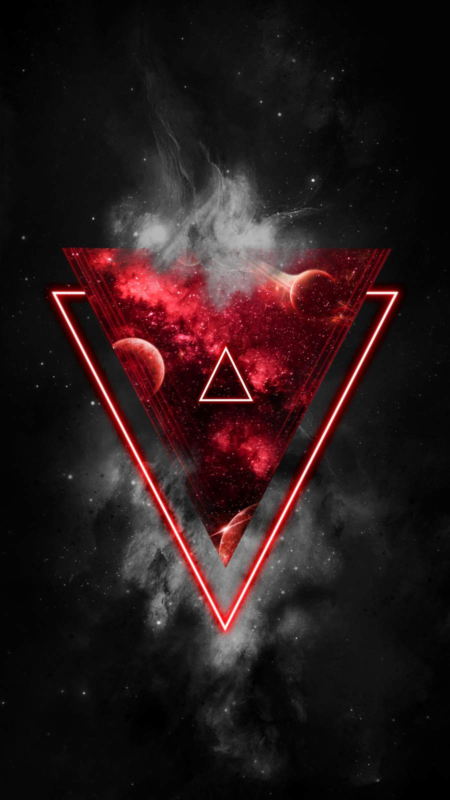 Red Triangle iPhone Wallpaper