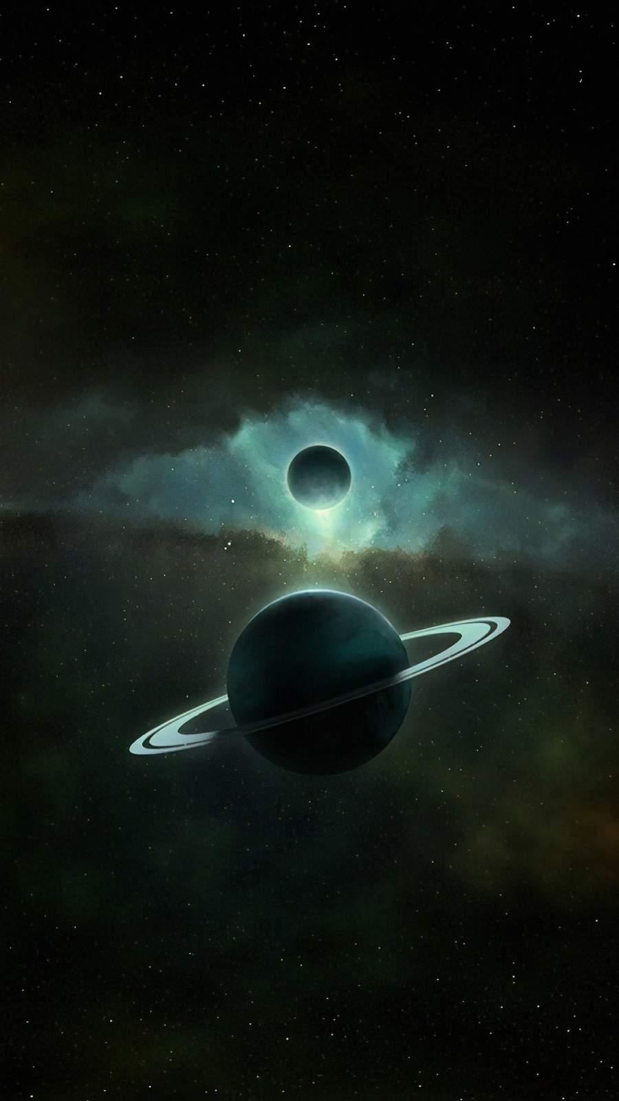 Saturn Planet Art 4K iPhone Wallpaper