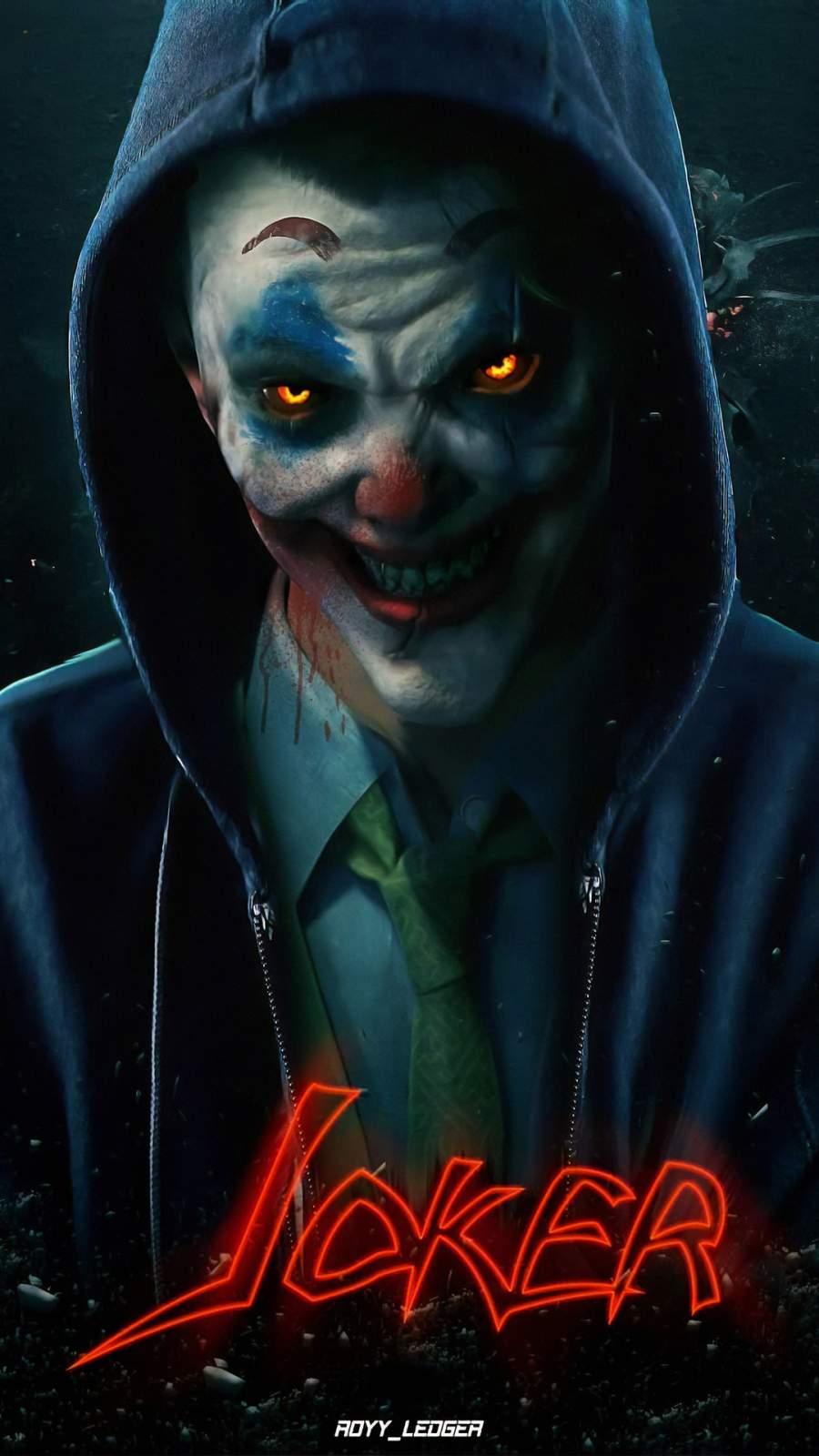 Scary Joker iPhone Wallpaper