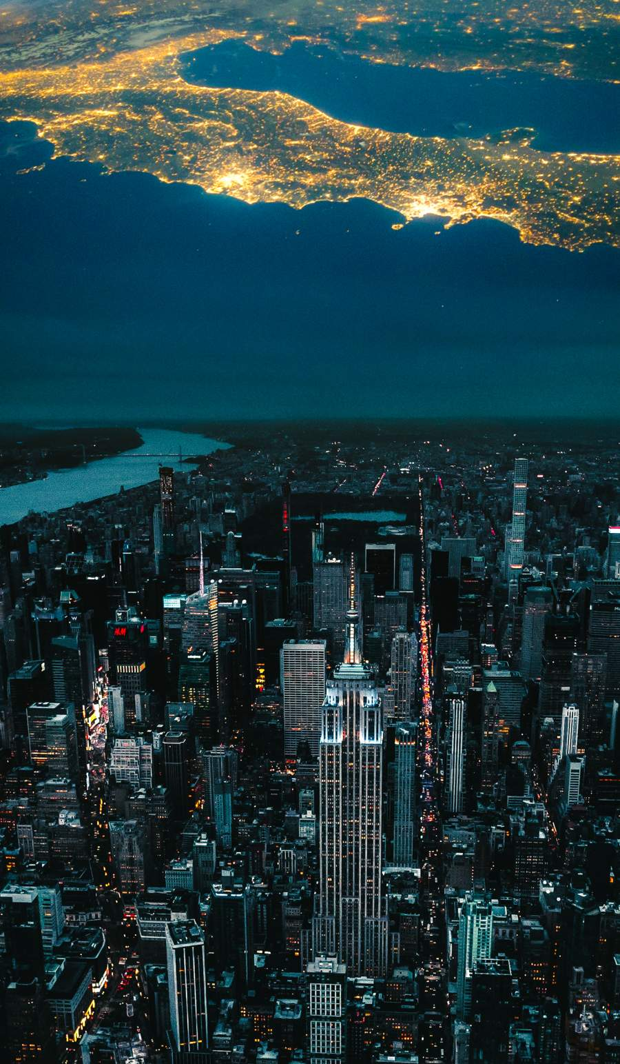 Sky City iPhone Wallpaper