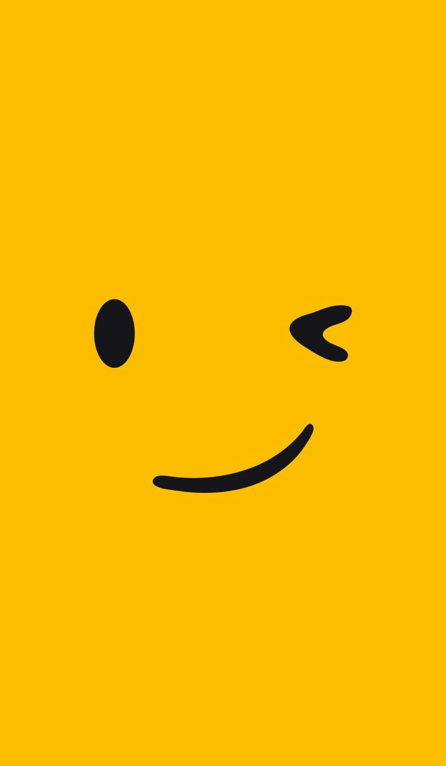 Smile Emoji iPhone Wallpaper