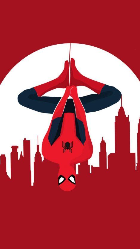 Spider Man Vector Art iPhone Wallpaper