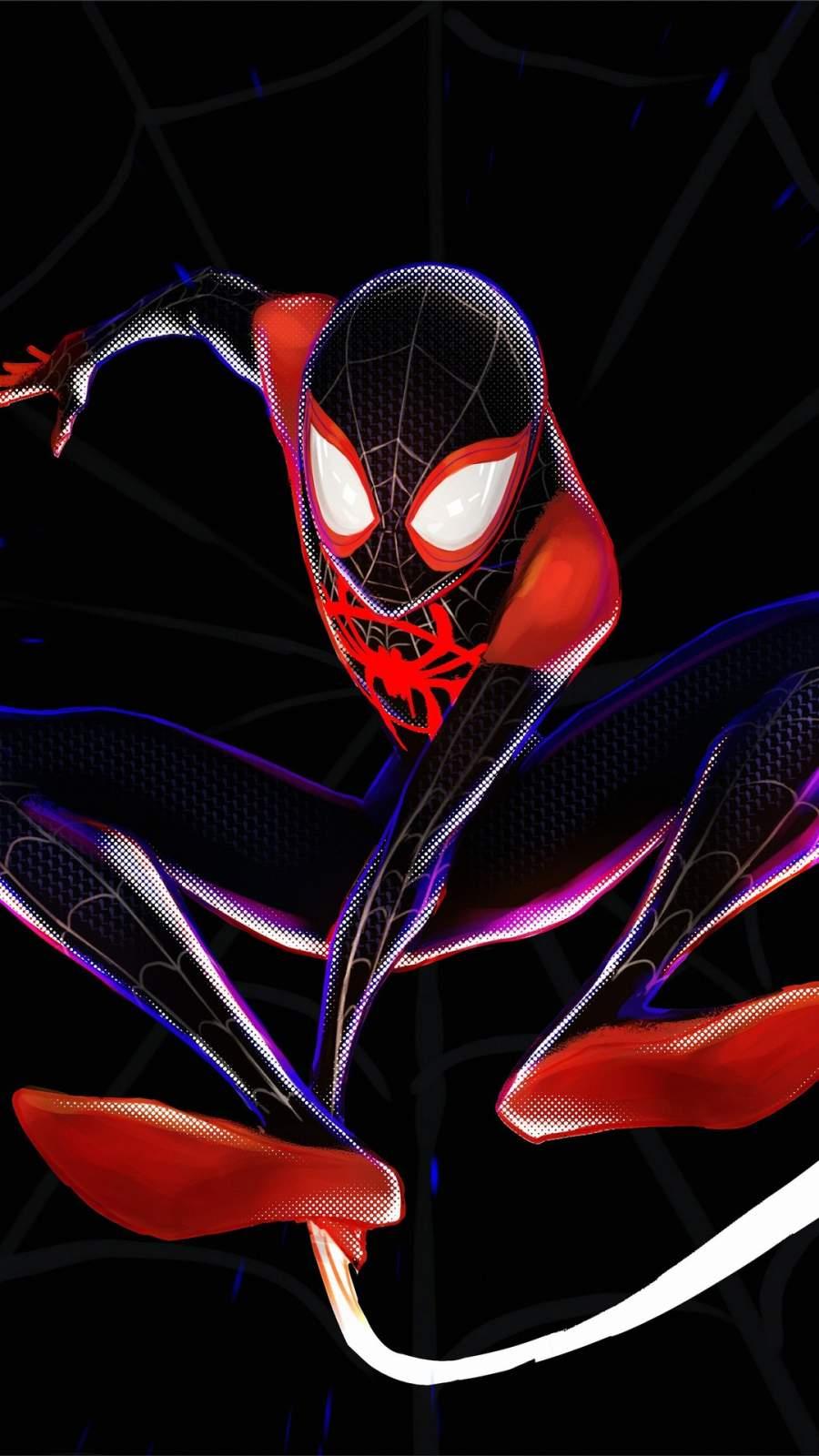 Spiderman 4k Miles Morales iPhone Wallpaper