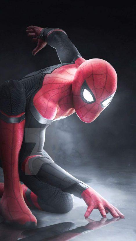 Spiderman Art 4K iPhone Wallpaper