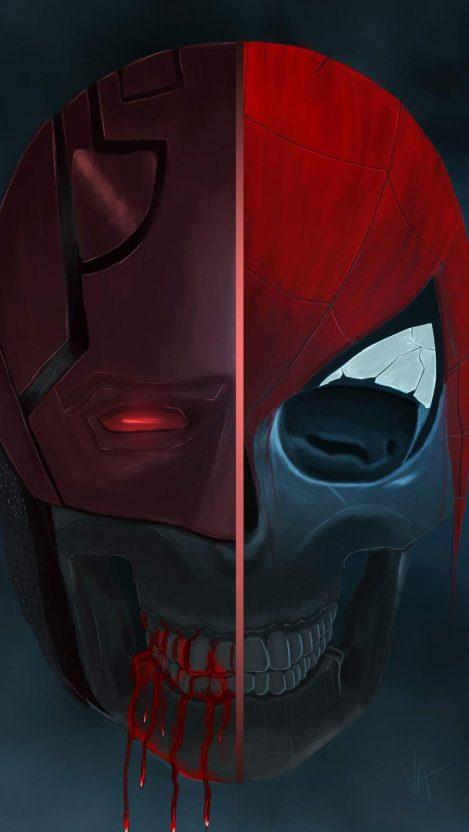 Spiderman Skull iPhone Wallpaper