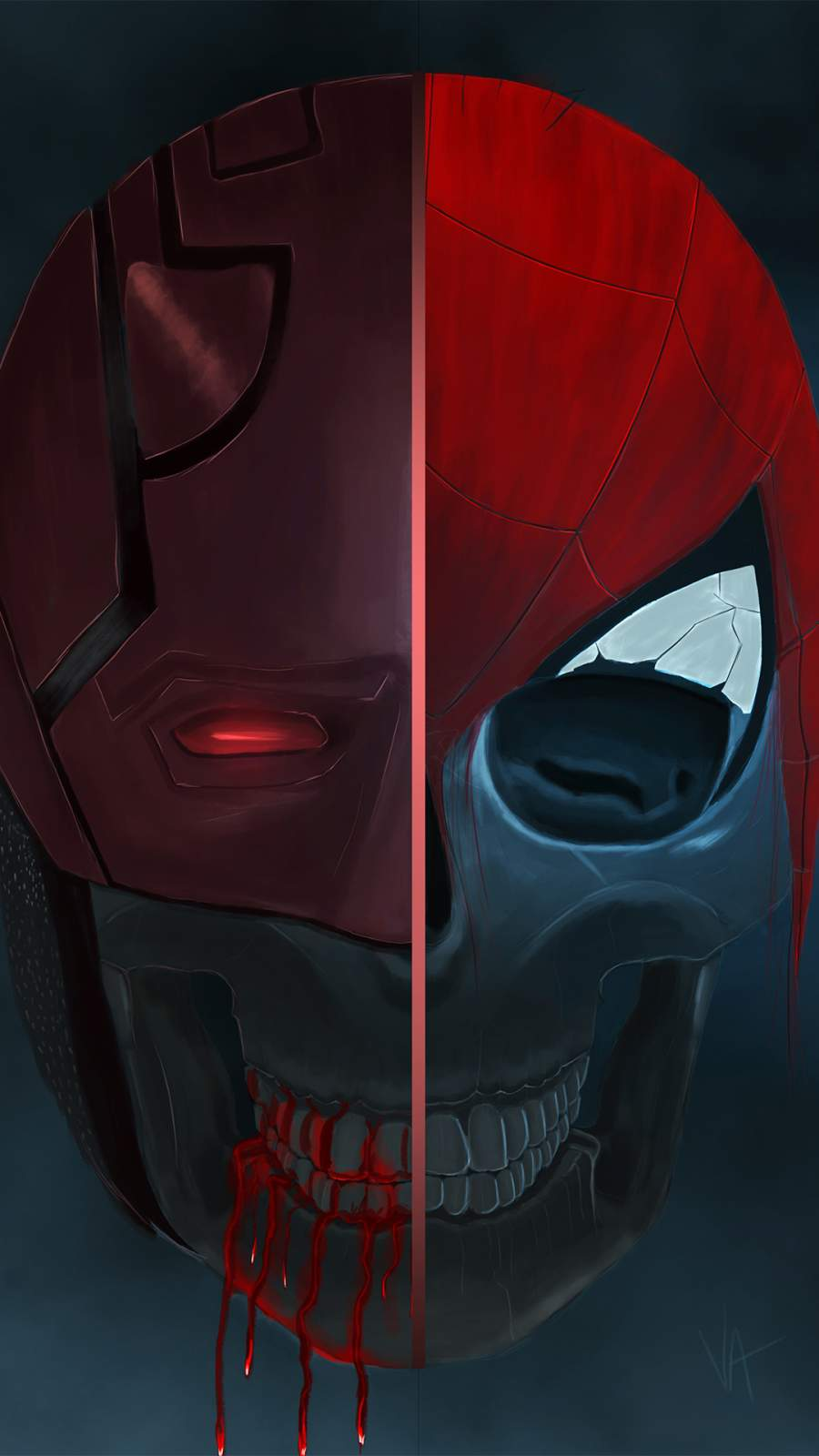 Spiderman Skull iPhone Wallpaper
