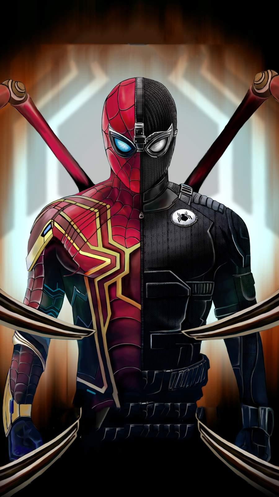 Spiderman Suit iPhone Wallpaper