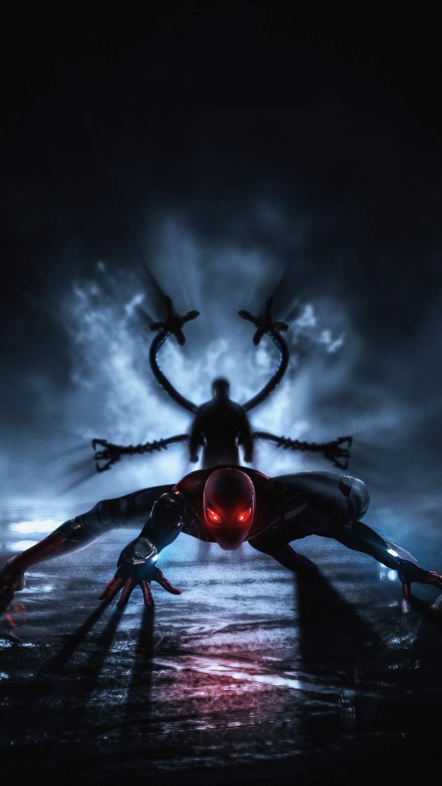 Spiderman vs Doctor Octopus iPhone Wallpaper