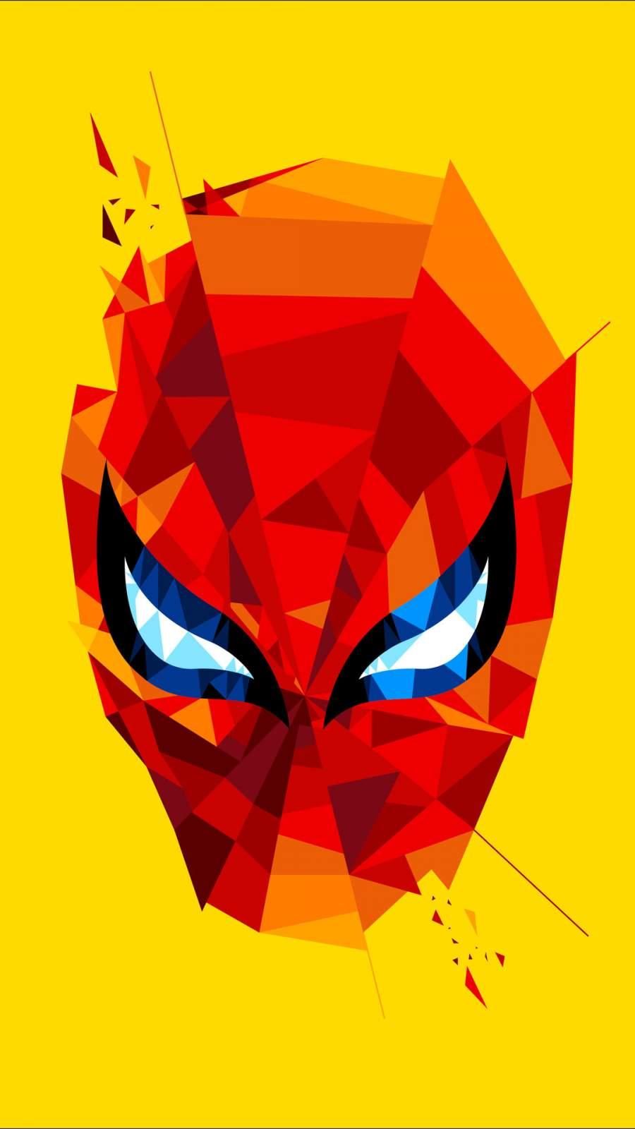 Spidey Mask iPhone Wallpaper