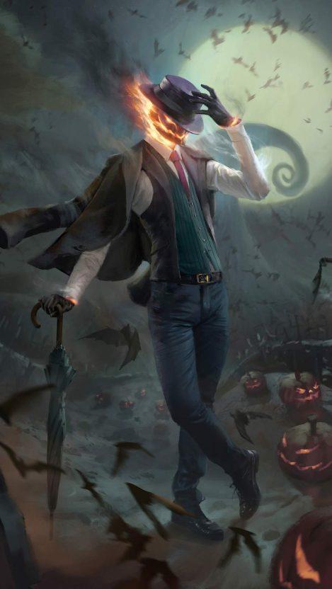 Spooky Jack Halloween iPhone Wallpaper