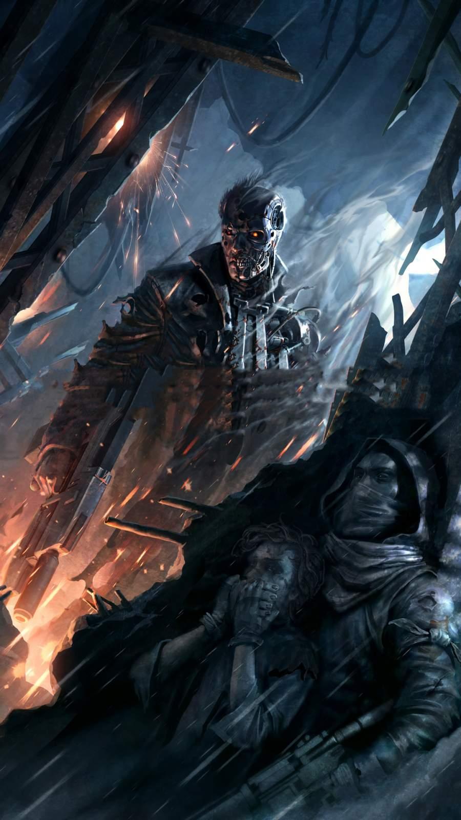 Terminator Game iPhone Wallpaper