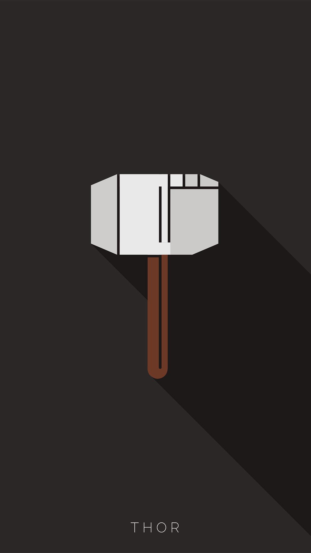 Thor Minimal iPhone Wallpaper