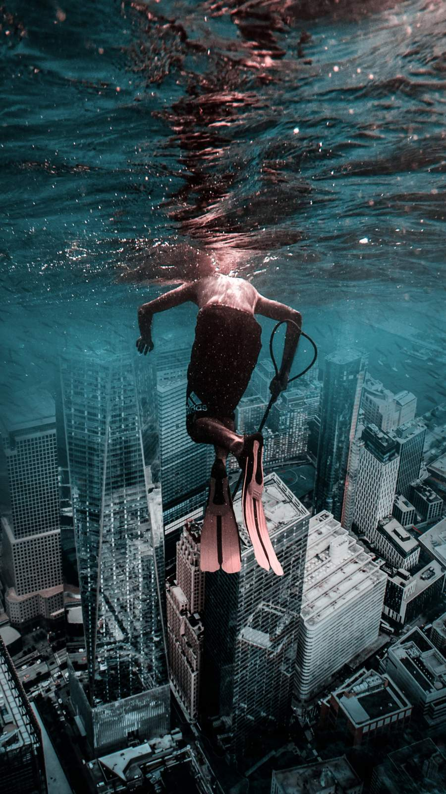 Underwater City iPhone Wallpaper