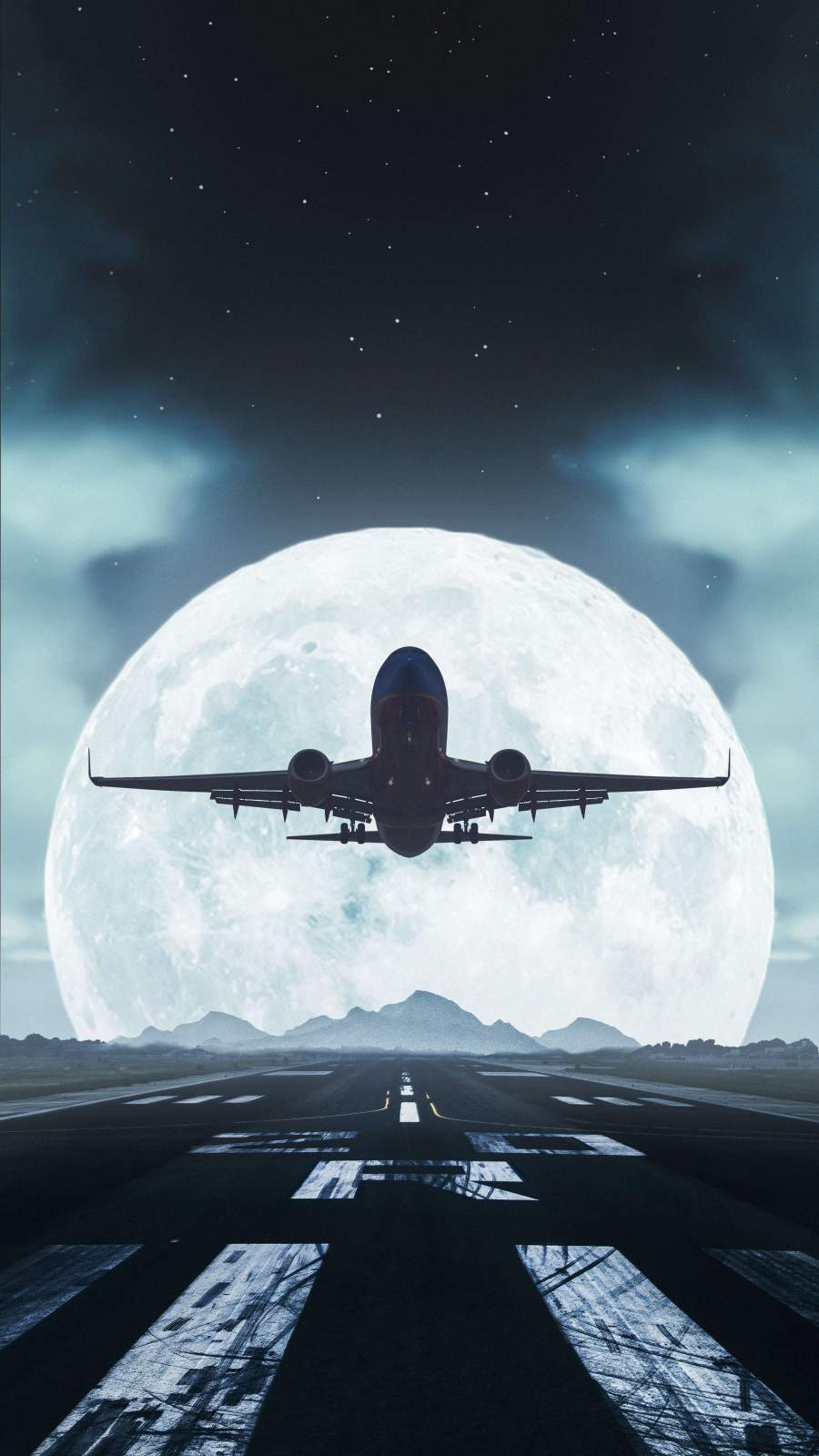 Airplane Take Off iPhone Wallpaper