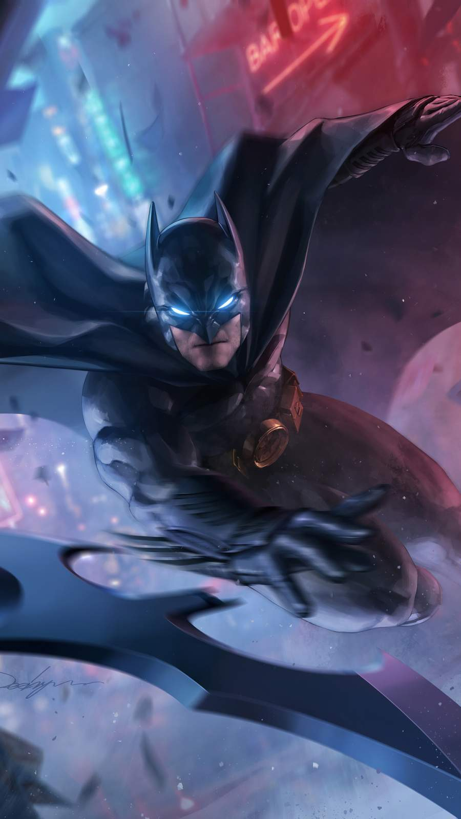 Batman Attack iPhone Wallpaper