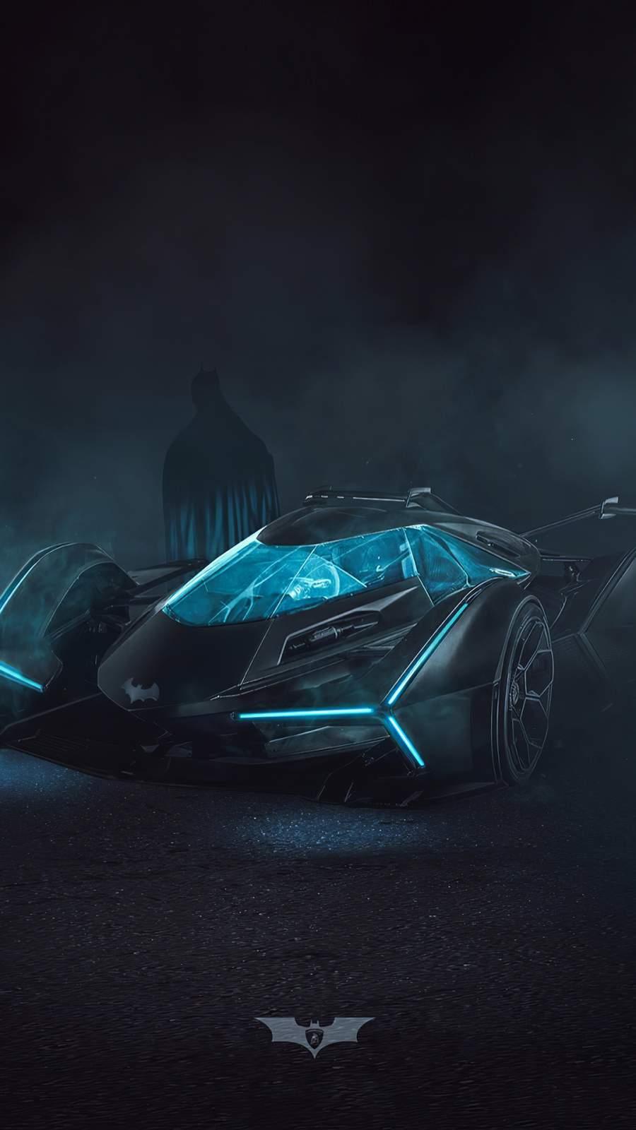 Batman Batmobile iPhone Wallpaper