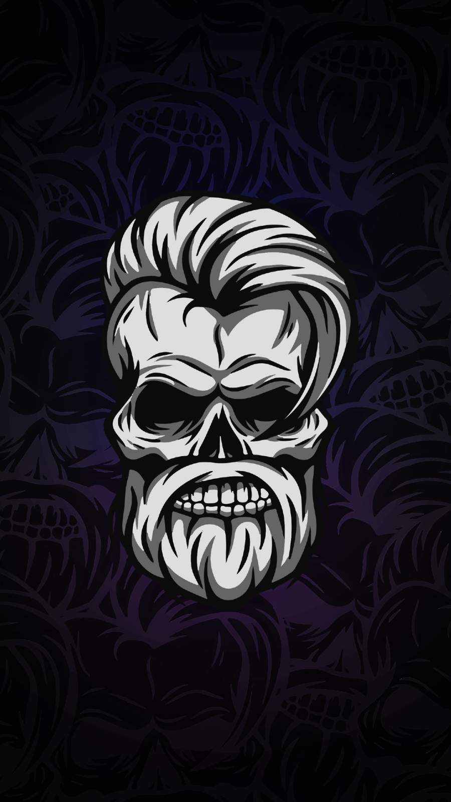 Beard Skull iPhone Wallpaper