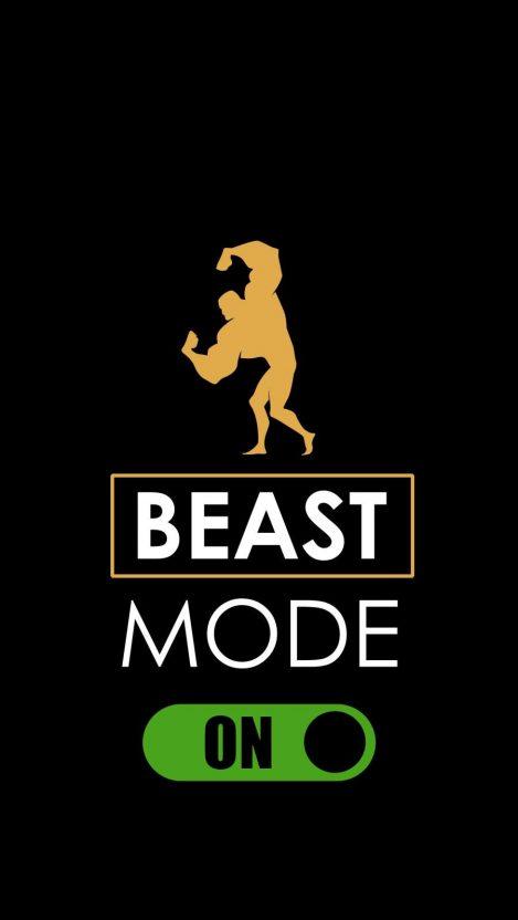 Beast Mode ON iPhone Wallpaper