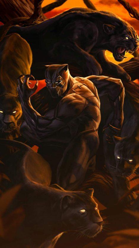 Black Panther Dark iPhone Wallpaper