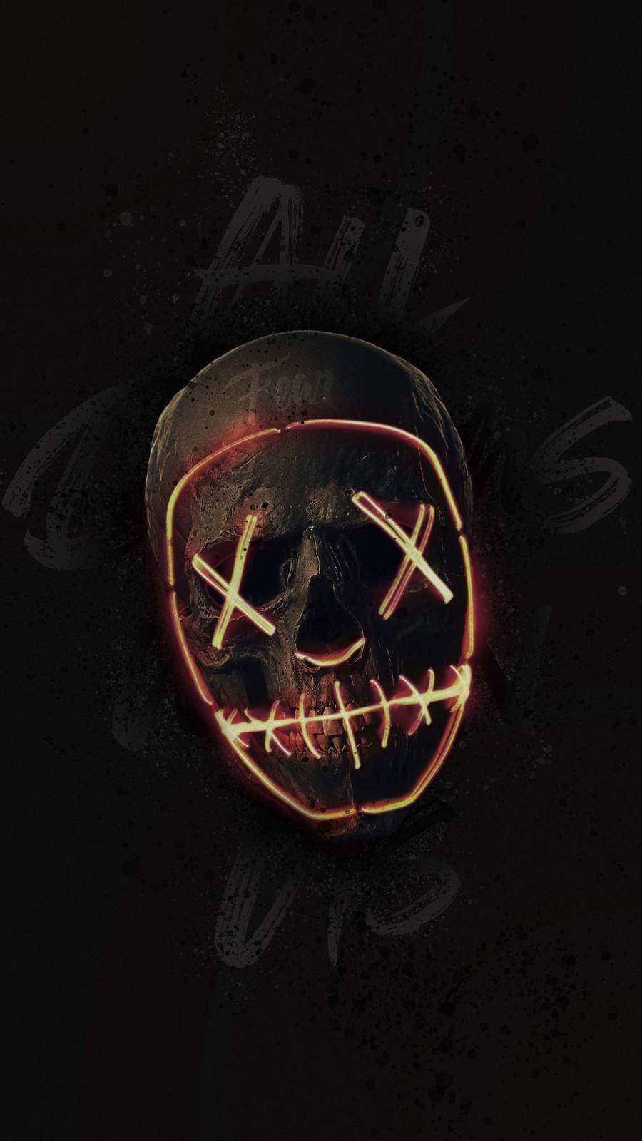 Black Skull iPhone Wallpaper
