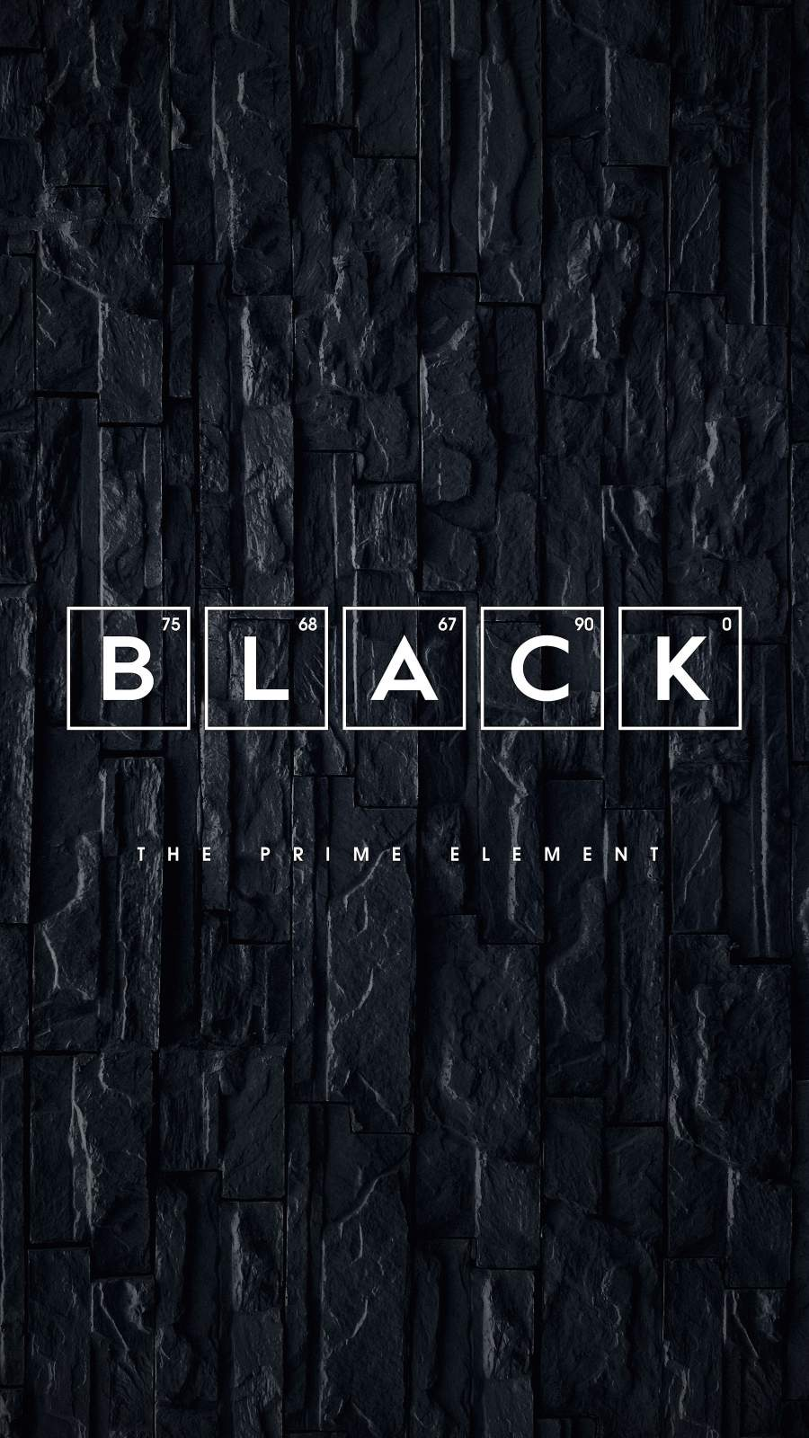 Black The Prime Element iPhone Wallpaper