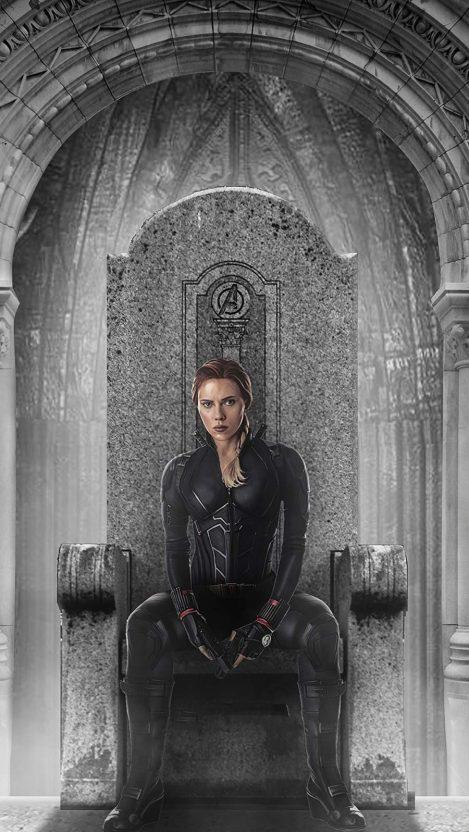 Black Widow Throne iPhone Wallpaper