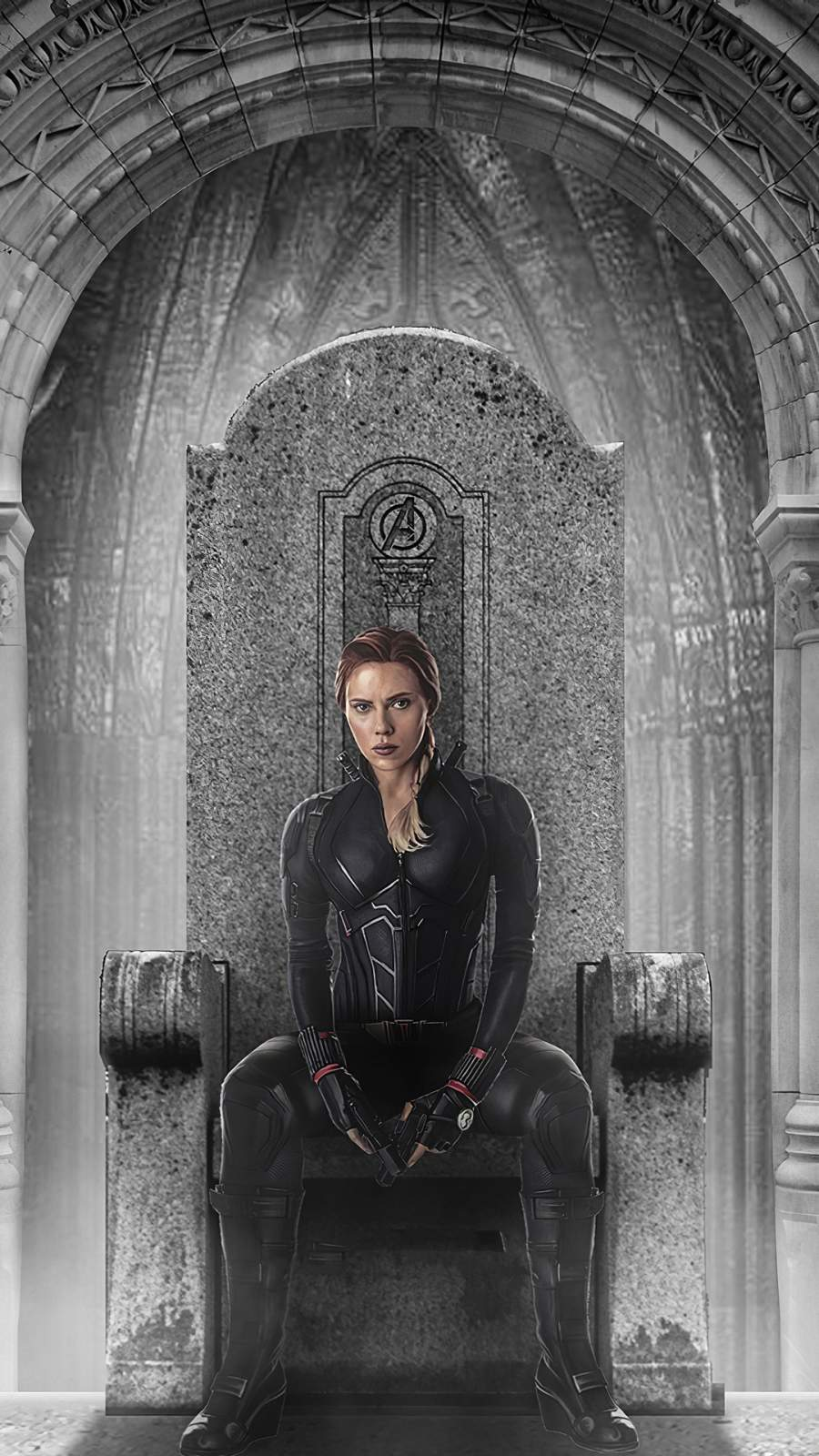 Black Widow Throne iPhone Wallpaper
