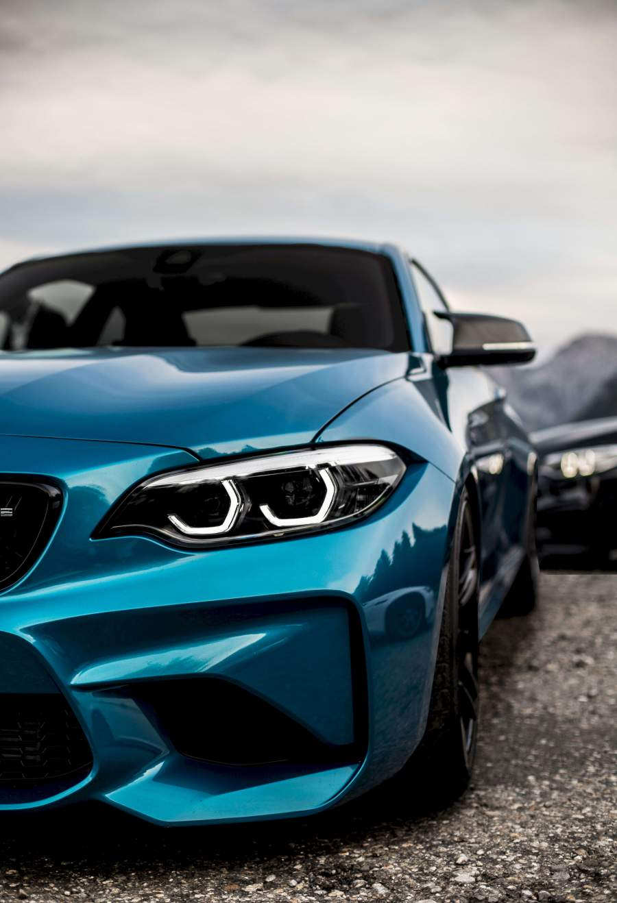 Blue BMW iPhone Wallpaper