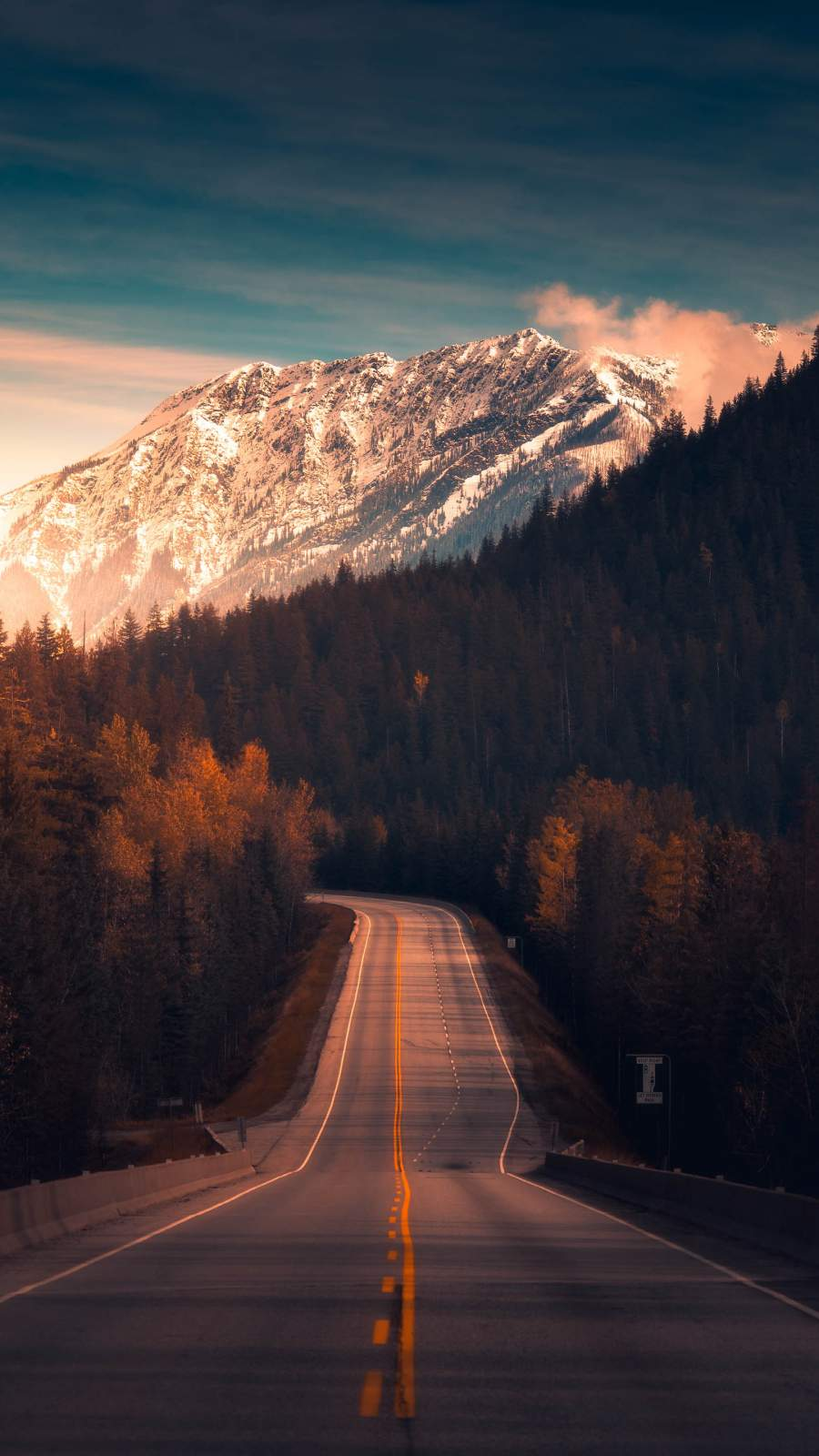 Canadian Roads iPhone Wallpaper