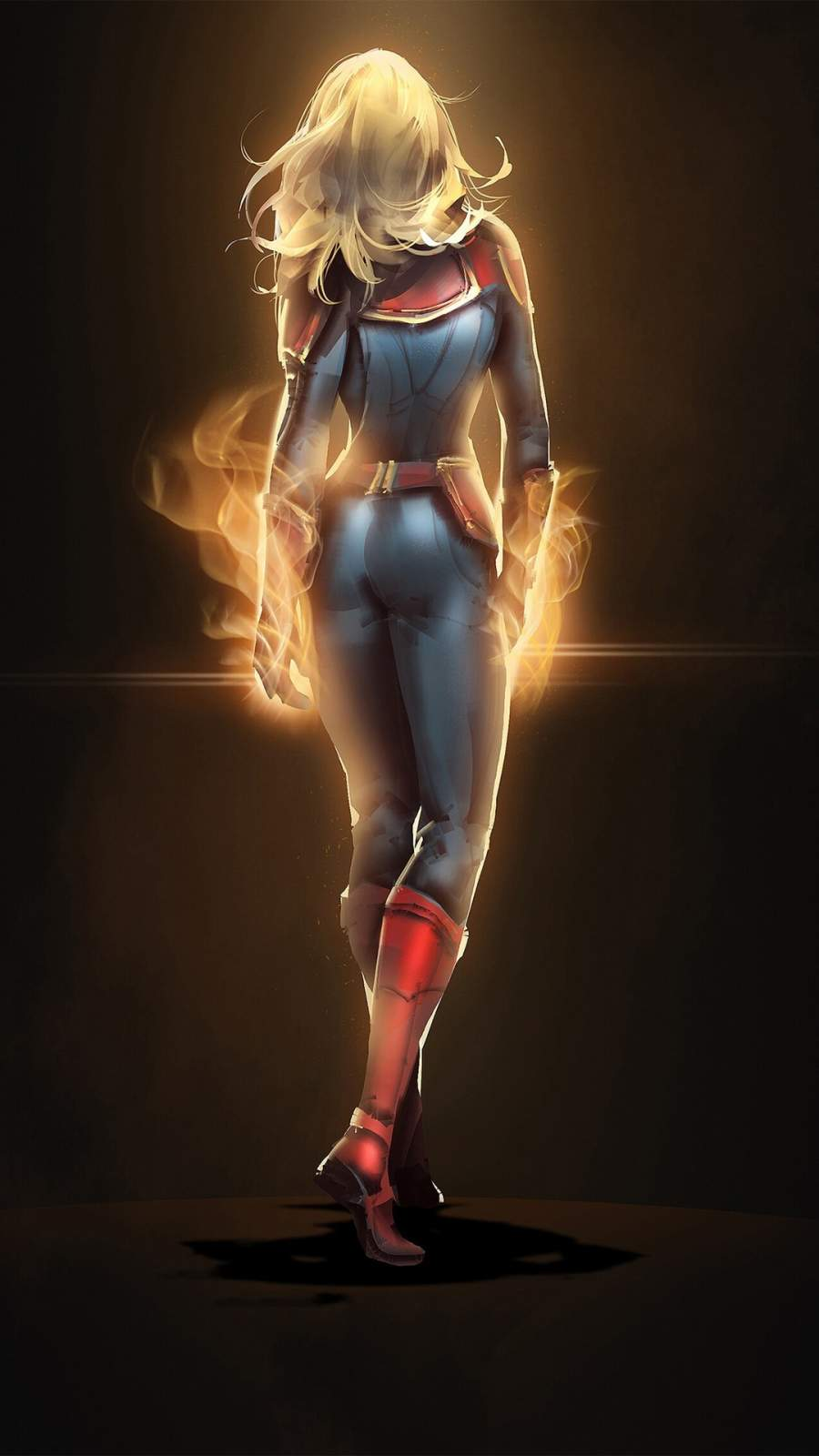 Captain Marvel iPhone Wallpaper