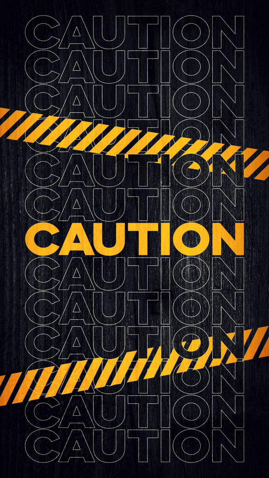 Caution iPhone Wallpaper