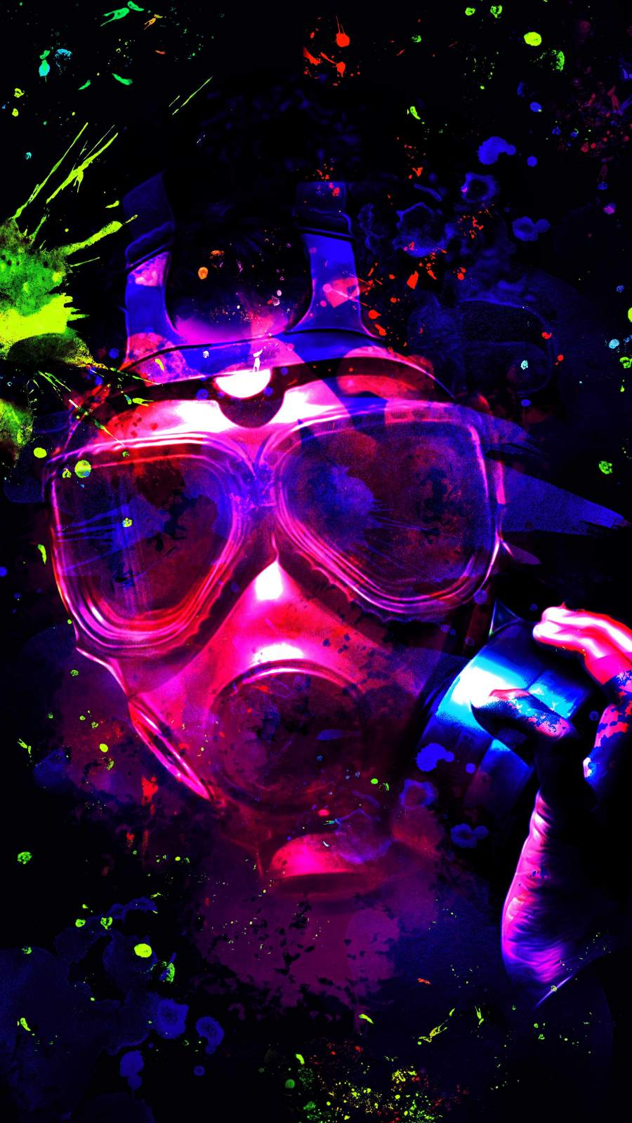 Colorful Mask iPhone Wallpaper