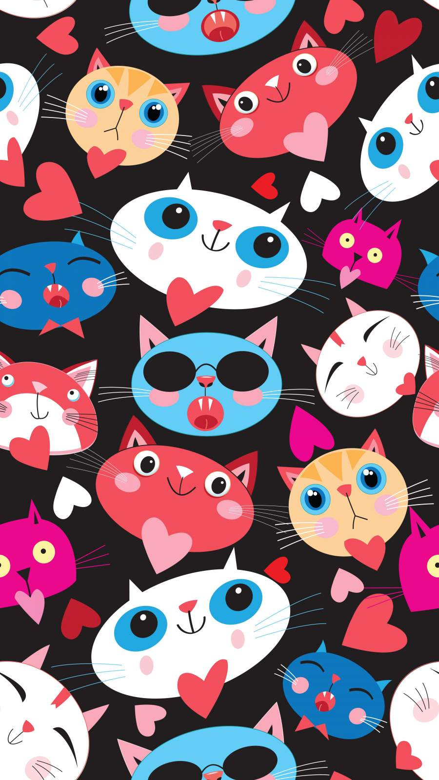 Cute Cats iPhone Wallpaper