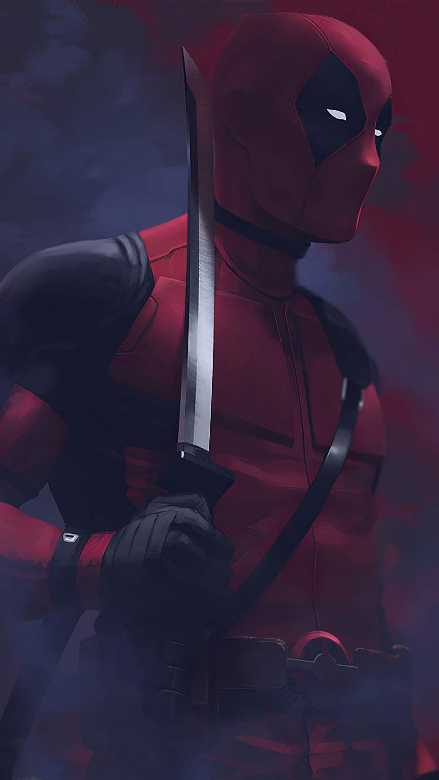 Deadpool Sword iPhone Wallpaper