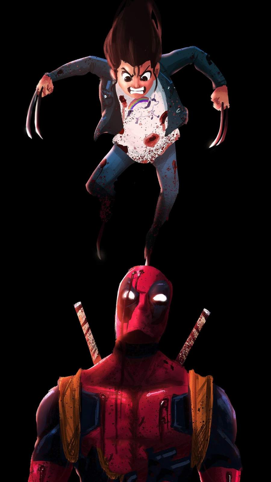 Deadpool vs Wolverine iPhone Wallpaper