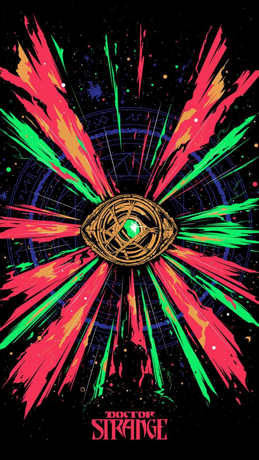 Doctor Strange Eye of Agamotto iPhone Wallpaper