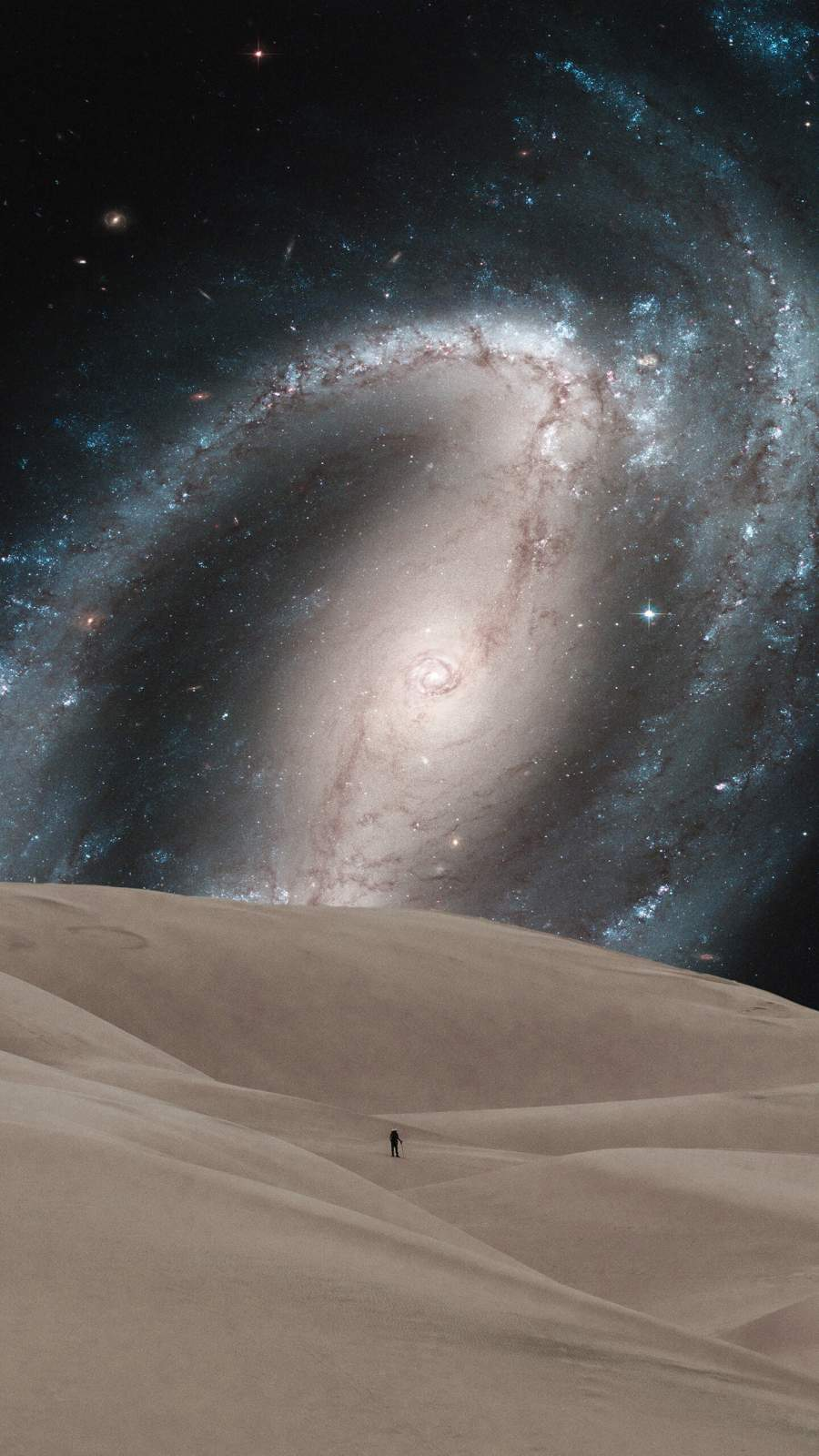 Galaxy Desert iPhone Wallpaper