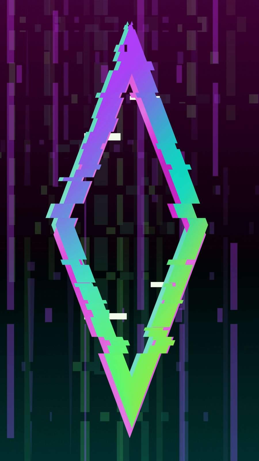 Glitch Triangle iPhone Wallpaper