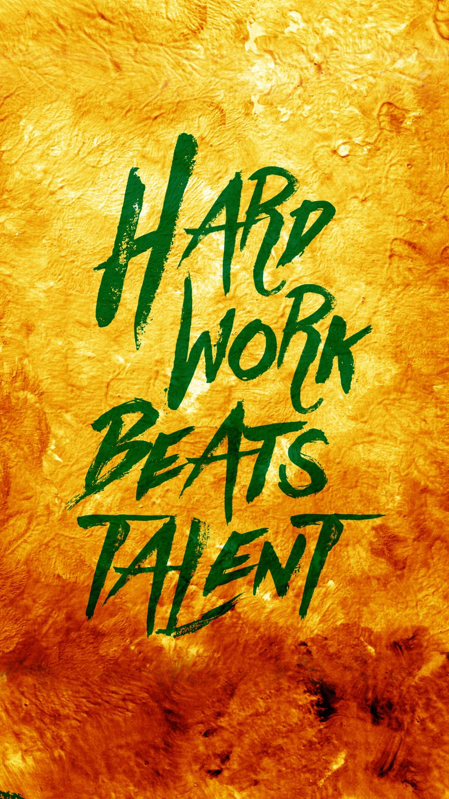 Hard Work Beats Talent iPhone Wallpaper