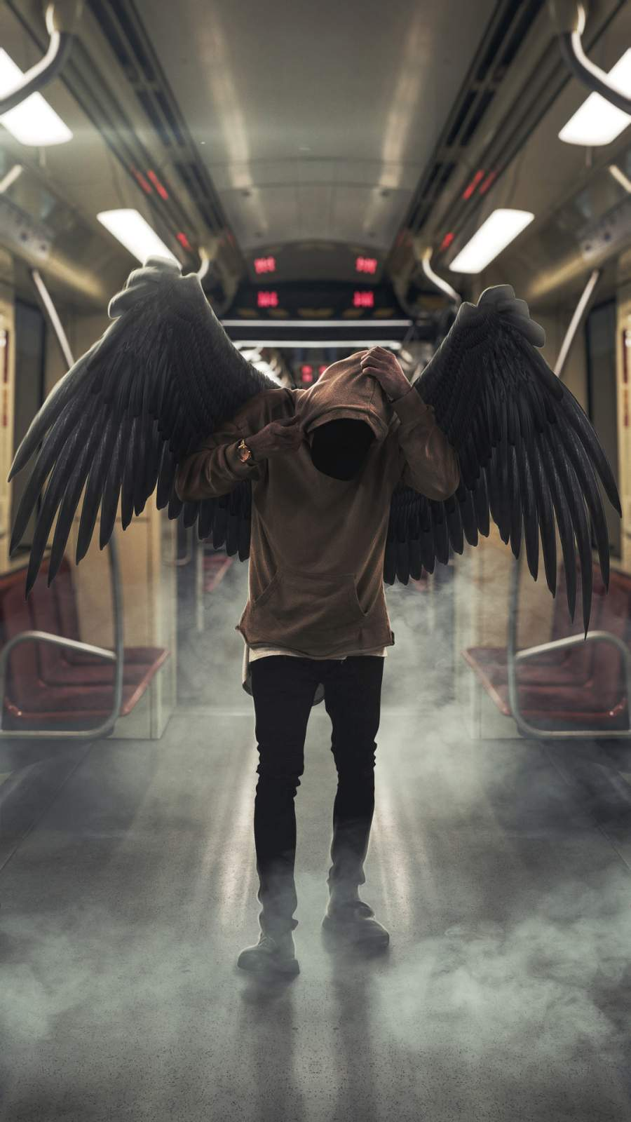 Hoodie Angel iPhone Wallpaper