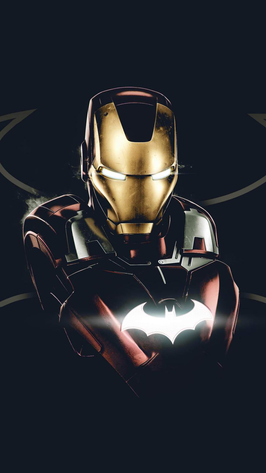 Iron Bat Superhero iPhone Wallpaper