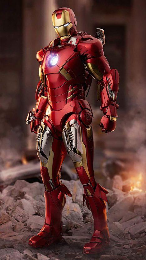 Iron Man Armor 4K iPhone Wallpaper