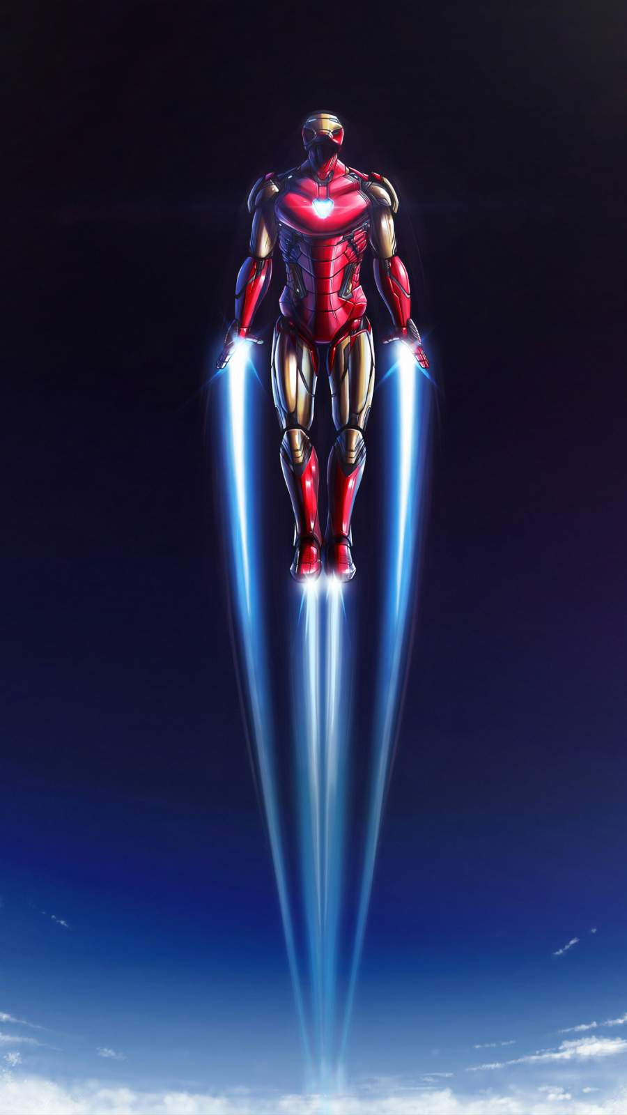 Iron Man Flying 4K iPhone Wallpaper