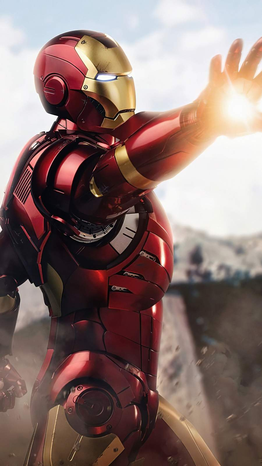 Iron Man Ready for Fight iPhone Wallpaper 1