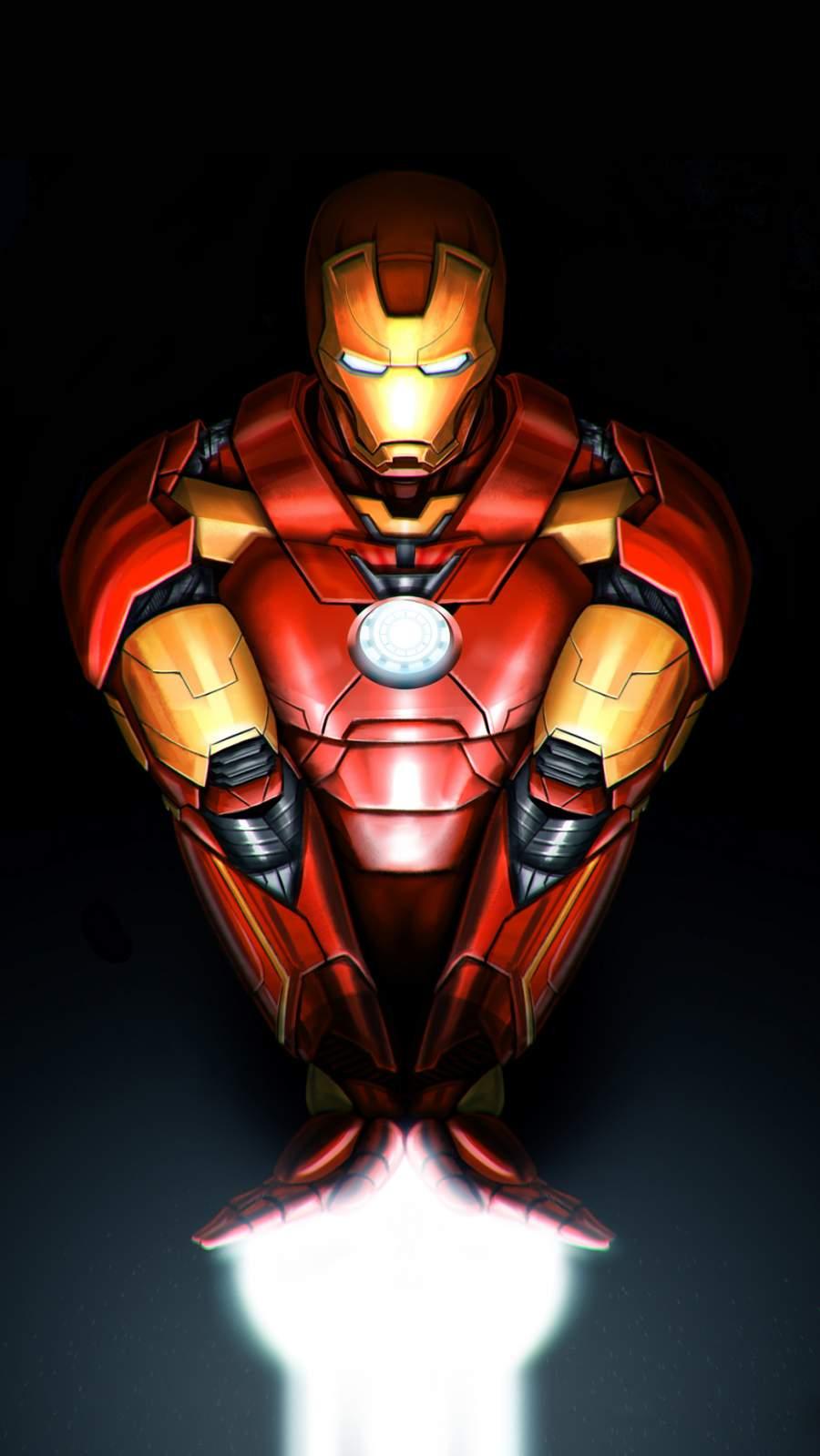 Iron Man Repulsor Arms iPhone Wallpaper